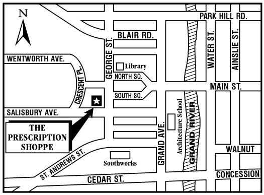 Map of Downtown Cambridge (Galt)